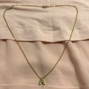 Jewelry - Gold plated stainless steel necklace w/ A pendant